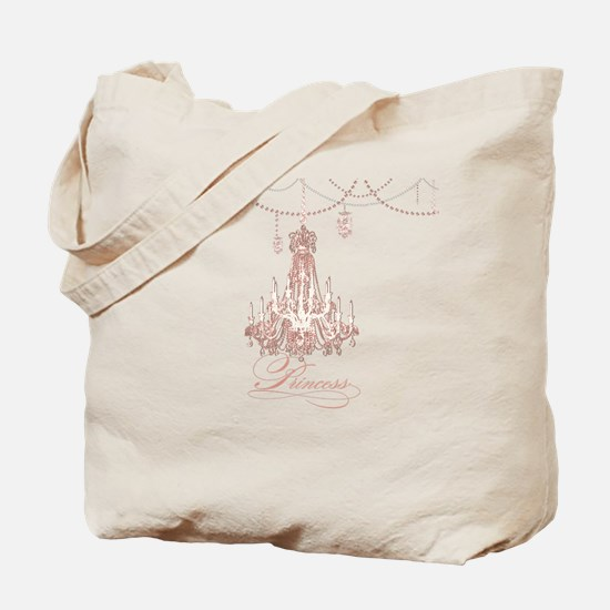 Princess Chandelier Girly Jewel Pearl Design Tote
