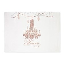 Princess Chandelier Girly Jewel Pearl Design 5'x7'