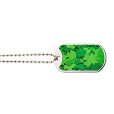 Lucky green clovers Dog Tags