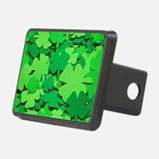 Lucky green clovers Hitch Cover