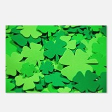 Lucky green clovers Postcards (Package of 8)