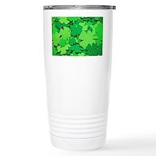 Lucky green clovers Thermos Mug