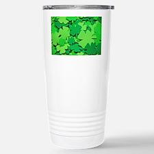 Lucky green clovers Travel Mug