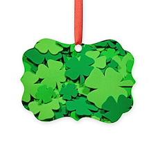 Lucky green clovers Ornament
