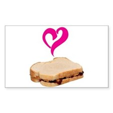 I Love Peanut butter and Jelly Sandwich Decal