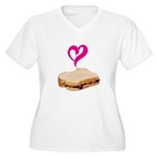 I Love Peanut butter and Jelly Sandwich Plus Size