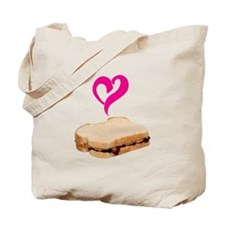 I Love Peanut butter and Jelly Sandwich Tote Bag