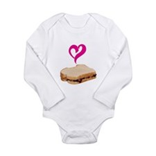 I Love Peanut butter and Jelly Sandwich Body Suit
