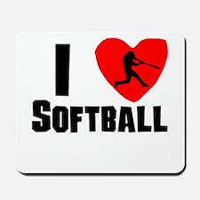 I Heart Softball Mousepad