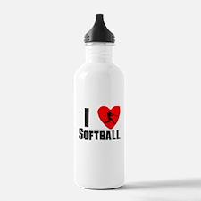 I Heart Softball Sports Water Bottle