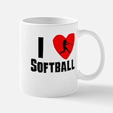 I Heart Softball Mugs