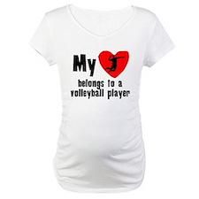 My Heart Belongs To A Volleyball Player Shirt