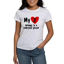 My Heart Belongs To A Volleyball Player T-Shirt