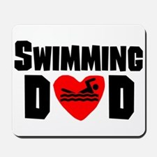 Swimming Dad Mousepad