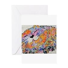 Rainbow Calico Greeting Cards