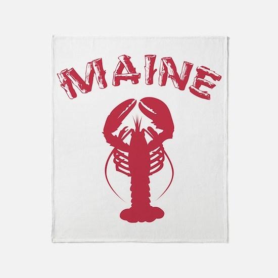 Maine Lobster Throw Blanket