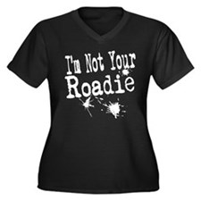 I'm not your Roadie Women's Plus Size V-Neck Dark