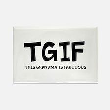 Fabulous Grandma Rectangle Magnet