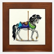 The Carousel Horse Framed Tile