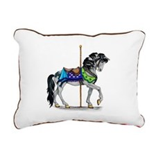 The Carousel Horse Rectangular Canvas Pillow