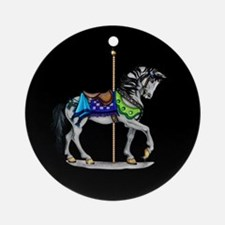 The Carousel Horse Ornament (Round)