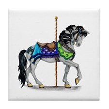 The Carousel Horse Tile Coaster
