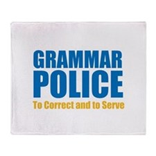Grammar Police Throw Blanket
