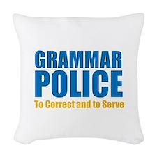 Grammar Police Woven Throw Pillow