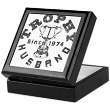Trophy Husband Since 1974 Keepsake Box