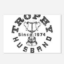 Trophy Husband Since 1974 Postcards (Package of 8)