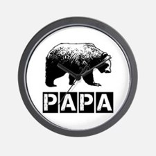 Papa-bear Wall Clock