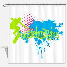 Cute Urban art Shower Curtain
