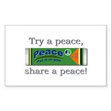 Peace gum, try a peace! Rectangle Decal