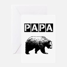 Papa-bear-ver3 Greeting Cards