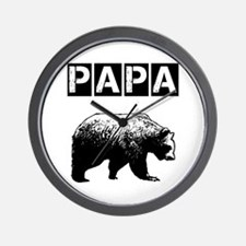 Papa-bear-ver3 Wall Clock