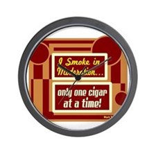 Smoke In Moderation-Mark Twain Wall Clock