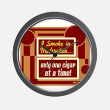 Smoke In Moderation-Mark Twain Wall Clock