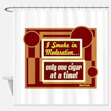 Smoke In Moderation-Mark Twain Shower Curtain