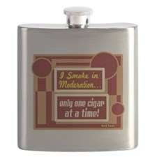 Smoke In Moderation-Mark Twain Flask