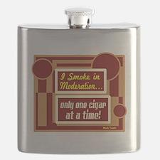 Smoke In Moderation-Mark Twain Flask
