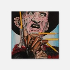 "Freddy and Pencils Square Sticker 3"" x 3"""