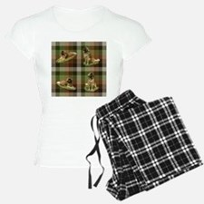 Cute Leonberger Dog Tartan Pajamas