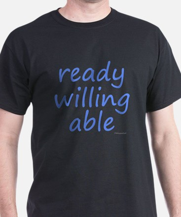 ready willing able blue T-Shirt