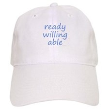 ready willing able blue Baseball Cap