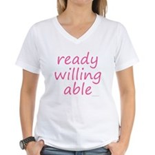 ready willing able pink Shirt