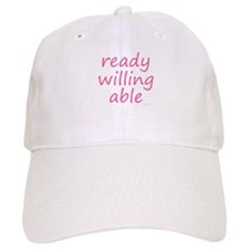 ready willing able pink Baseball Cap