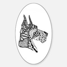 Cropped Great Dane Decal