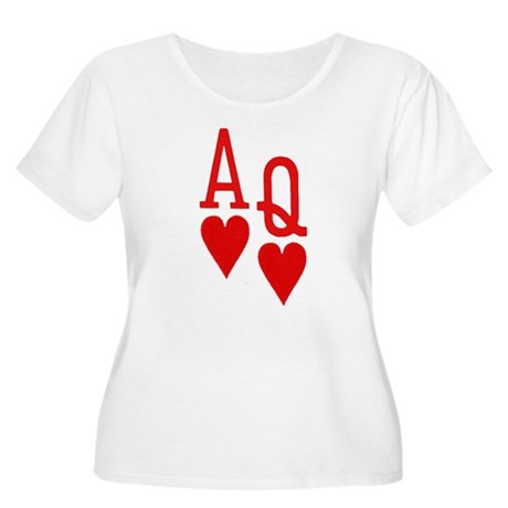 Ace Queen Poker Women's Plus Size Scoop Neck T-Shi