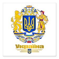 """Ukraine COA Square Car Magnet 3"""" x 3"""""""