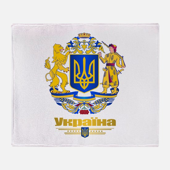 Ukraine COA Throw Blanket
